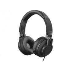 AURICULAR TRUST DJ URBAN COMPRIMENTO CABO 1,2 M COM MICROFONE E BOTAO CONTROLO CONEXAO JACK 3.5 MM