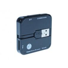 LEITOR DE CARTOES MEDIARANGE ALL IN ONE USB 2.0 PRETO