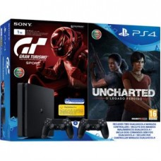 Consola Playstation 4 - PS4 1TB + GT Sport + Uncharted LP + DS4