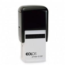 Carimbo 30x30mm Autotintavel Colop Mod Q30 Almofada Vermelha