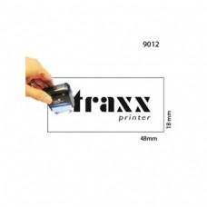 Carimbo 18x48mm Autotintavel Traxx Mod 9012 Corpo Cinza