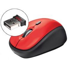 RATO TRUST OPTICO 1600 DPI SEM FIOS NANO RECEPTOR USB 2,4 GHZ VERMELHO