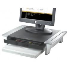 Suporte fellowes para monitor tft office suites ajustavel em altura com bandeja 100/150x500x364 mm mm cor preto/prata