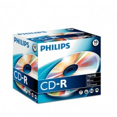 CD-R Philips 700MB 52x 80min Jewel Cx 10un