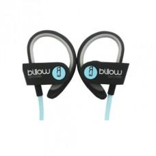 Auscultadores BILLOW Desporto EAR HOOK, Bluetooth, Microfone Black/Blue - XBT01PROBL