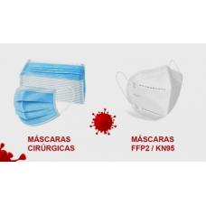 MASCARA PROTEÇÃO FFP2 KN95 BRANCAS CX10