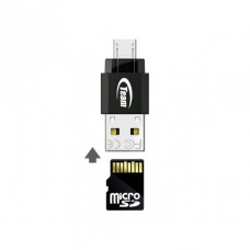 Micro SD Team Group M141 8GB class 10 /adapt USB + OTG - TUSDH8GCL1036