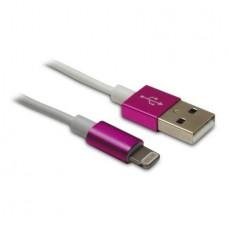 METRONIC - Cabo Lightning/USB Rosa 471042