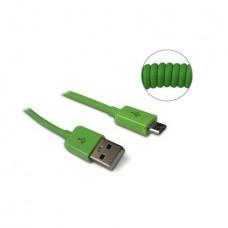 METRONIC - Cabo Micro USB Extensível Verde 471053